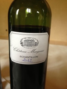 Margaux 2012 sample