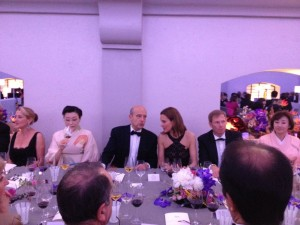 French actress Carol Bouquet and Bordeaux mayor Alain Juppé among other VIPs at the dinner