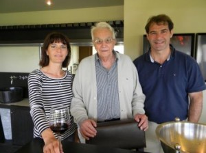 At Sociando Mallet, with Administrative director Pascale Roby, owner Jean Gautreau and technical director Vincent Faure