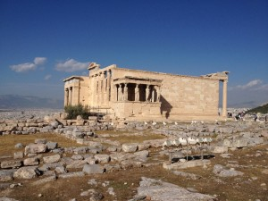 Wines from the land of the gods: The gorgeous Erechtheion, on the north side of the Acropolis