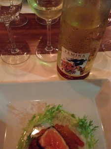 A delicious dry wine with grilled and marinated salmon
