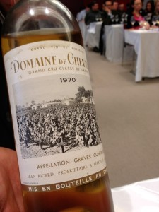 Over 40 years old and at its peak. Yes, that's a dry white wine from Bordeaux