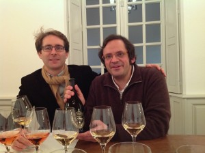With oenologist Vincent Chaperon, tasting through six vintages