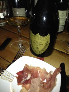 Delicious 1996 Dom with charcuterie