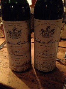 Two monumental wines from Montrose